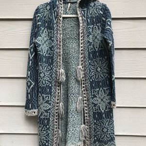 Free People Boho Crocheted cardigan small